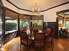 dining room from house used in the tv series the Ghost & Mrs Muir