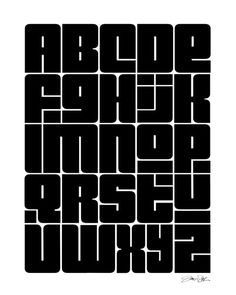 Alphabet Art, Black, White, Print, ABC's, Children, Edgy, Baby, Kids, Office, Home Decor, Typography, Graphic Design, Industrial on Etsy, $20.00