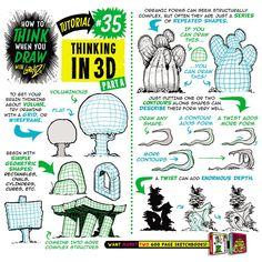 """EtheringtonBrothers na Twitterze: """"How to THINK in 3D drawing tutorial pt 1! https://t.co/RvRC5yshKc #conceptart #gamedev #animationdev #tutorial #howtodraw #3D #gameart #art https://t.co/UEYOQSiOU7"""""""