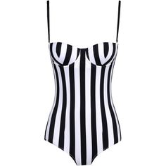 OIL & GRAIN // Dolce & Gabbana Beachwear Striped One-Piece Swimsuit ($595)