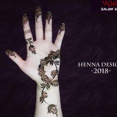 Henna Flower Designs, Simple Arabic Mehndi Designs, Henna Art Designs, Flower Henna, Bridal Mehndi Designs, Mehndi Design Pictures, Mehndi Images, Modern Henna, Latest Henna Designs