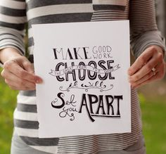 Choosing the great from the good will set you apart  |  The Fresh Exchange  |  Megan Gilger