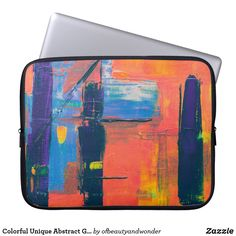 Colorful Unique Abstract Grunge | Laptop Sleeve Custom Laptop, Best Laptops, Best Sites, Personalized Products, Laptop Sleeves, Grunge, Colorful, Abstract, Unique