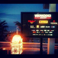 At the World Ducati Week dinner gala in Riccione - Instagram by @n_montemaggi