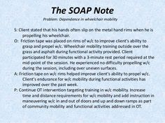 soap notes examples occupational therapy - Google Search ...
