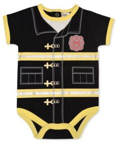 Saw this and thought of my cousin Jared's little boy that will be here in May :) so cute- Baby Boys Fireman Onesie