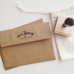 Mustache Personalized Wooden Address Stamp by stationeryboutique, $30.00