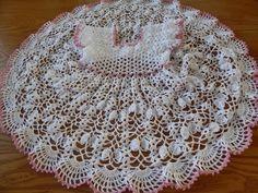 VESTIDO DE ABANICOS EN CROCHET PARA NIÑA PASO A PASO CON VÍDEO TUTORIAL | Patrones Crochet, Manualidades y Reciclado