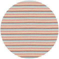 Timeless Treasures, Hootenanny Organic, Stitch Stripe Multi. fabricworm.com