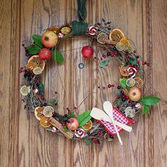 Etonnant Foodie Wreath. Kitchen Or Diner Door Cute