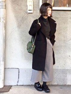 インスタ→dayofme0607(yumi.) →髪切ってからのコーデ初です。 2〜3センチ長