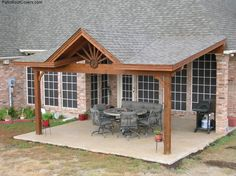 simple back covered patios | is this what you had in mind