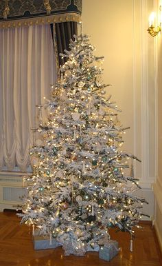 Never thought I would like an all white tree, but this is beautiful!