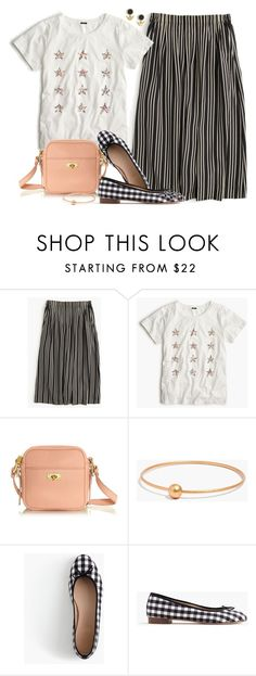 """""""Plaid & stripes"""" by villasba on Polyvore featuring J.Crew and Madewell"""
