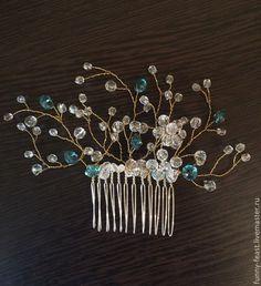Купить Аксессуары для свадебной (вечерней) прически - разноцветный, украшения для волос, свадебный гребень, свадебный образ