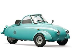 1957 Jurisch Motoplan – This prototype was the vision of engineer and motorcycle racer Carl Jurisch. The German saw the benefits of a vehicle that could combine the auto and a motorcycle. Unloved in Florida until the 1970s when a microcar collector purchased it and was able to track the car's mysterious and fascinating history.
