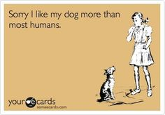 I like my dog more than all humans. Sorry Mom. Not really, though, because I know you feel the same way. ___ Dogs Lover?? Visit our website now! :-)