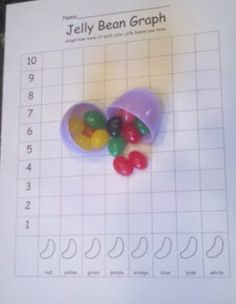 For all those fun jelly bean activities during the spring and Easter, try passing out your jelly beans in plastic eggs!  Lots of math freebies including patterning, tallying, graphing, sorting, and a parent letter!