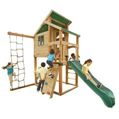 Swing-N-Slide Playsets Hideaway Clubhouse Playset with Summit Slide-PB 8129S at The Home Depot
