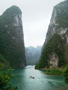 Three Gorges on the Yangtze River - China.                                                                                                                                                                                 More