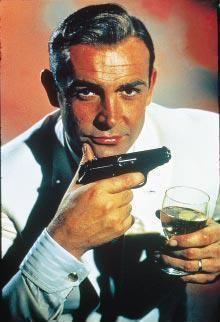 My name is Bombed, I mean Bond... James Bond...hic!