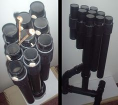 Tubular drums, membranophone percussion instruments like Blue Man Group