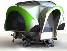Flat bed trailer pop up tent