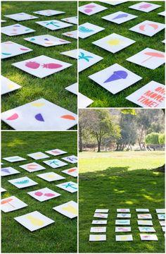 Gedächtnisspiel mit Karten selber machen