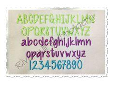 $2.95Cutesy Machine Embroidery Font Alphabet