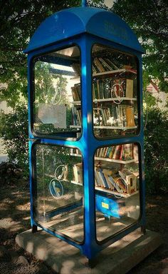 Telephone booth library in Hungary