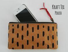 kraft tex pouch | s.o.t.a.k handmade | Bloglovin'