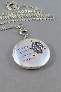 Turtle Love,Locket,Silver Locket,Turtle,Turtle Locket,Antique Locket,Antique,Woodland,Love You. Handmade jewelry by valleygirldesigns. on Etsy, $32.00