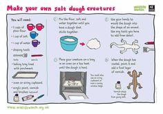 Make your own salt dough creatures