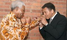 """A photograph of Ali and Mandela together sat next to the former president's desk at his foundation, Hatang said, and Mandela's favourite book at the office in his later years was an autographed copy of the Ali biography Greatest of All Time.  The statement included a comment Mandela made at an event in Washington DC in 1990: """"There is one regret I have had throughout my life: that I never became the boxing heavyweight champion of the world."""""""