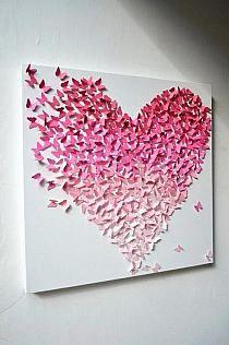 Tableau coeur papillons