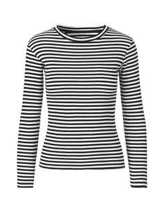 Soft Striped Black/White Tuba blouse