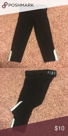 PINK cropped yoga pants Used Pants Leggings