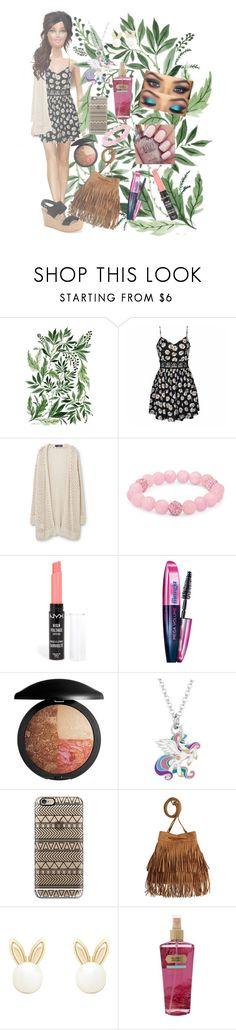"""""""flowers. 🌺"""" by axelyamary ❤ liked on Polyvore featuring Ally Fashion, Violeta by Mango, Palm Beach Jewelry, NYX, L'Oréal Paris, Laura Geller, My Little Pony, Casetify, H&M and Lipsy"""
