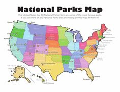 Listings Of Parksforestetc In Each State Great Resource For My - Us state parks map