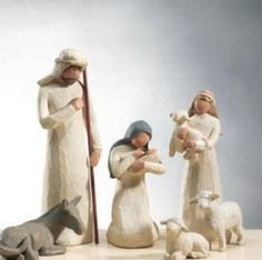 Willow Tree Nativity I would love this set. (My dil was given a complete Willow Tree Nativity set by her grandmother as a wedding gift-Beautiful! Willow Tree Nativity Set, Willow Tree Figures, Willow Tree Angels, Christmas Nativity Set, A Christmas Story, All Things Christmas, Christmas Holidays, Christmas Decorations, Christmas Tree
