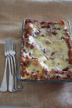 Vegetarian pumpkin lasagne