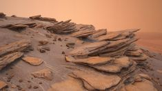 Someday, browsing some footage of rocks in Mars, I was impressed by the look of those, so I decided to make some. Thanks Curiosity! Landscape Concept, Fantasy Landscape, Environment Concept Art, Environment Design, Photo Reference, Art Reference, Cosmos, Foto 3d, Natural Structures