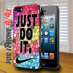 Colorfull Geomatric Nike Just Do It - design case for iphone 4,4s | shayutiaccessories - Accessories on ArtFire
