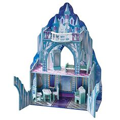 Dollhouses - Teamson Kids  Ice Castle Wooden Doll House with 7 pcs Furniture for 12 inch Dolls -- See this great product.