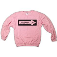 One Direction One Way Sign Sweatshirt Light Pink All by scstees ($23) via Polyvore