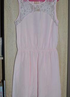 Kup mój przedmiot na #vintedpl http://www.vinted.pl/damska-odziez/krotkie-sukienki/11094351-pudrowa-sukienka-gole-odkryte-wyciete-plecy-koronka-36-38-hm