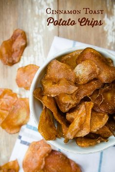 Homemade Cinnamon Toast Potato Chips