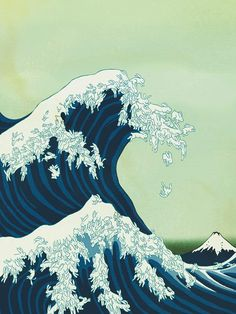 """Originally created for the cover of Giant Robot Magazine #28, this play on Hokusai's """"Great Wave off Kanagawa"""""""