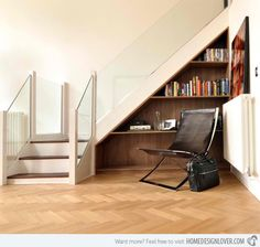 Cabinet Under Stairs Design Ideas, Pictures, Remodel, and Decor - page 4 Staircase Shelves, Staircase Design, Stair Design, Corner Bookshelves, Bookshelf Design, Bookshelf Ideas, Modern Bookshelf, Bookshelf Plans, Cabinet Under Stairs