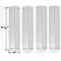 4 Pack Stainless Steel Heat Plate Replacement for Smoke Canyon Grill Chef BBQ Grillware, Master Chef and Members Mark Gas Grill Models Bbq Grill Parts, Bbq Parts, Chef Grill, Grill Brands, Bbq Accessories, Burner Covers, Outdoor Cooking, Master Chef, Stainless Steel